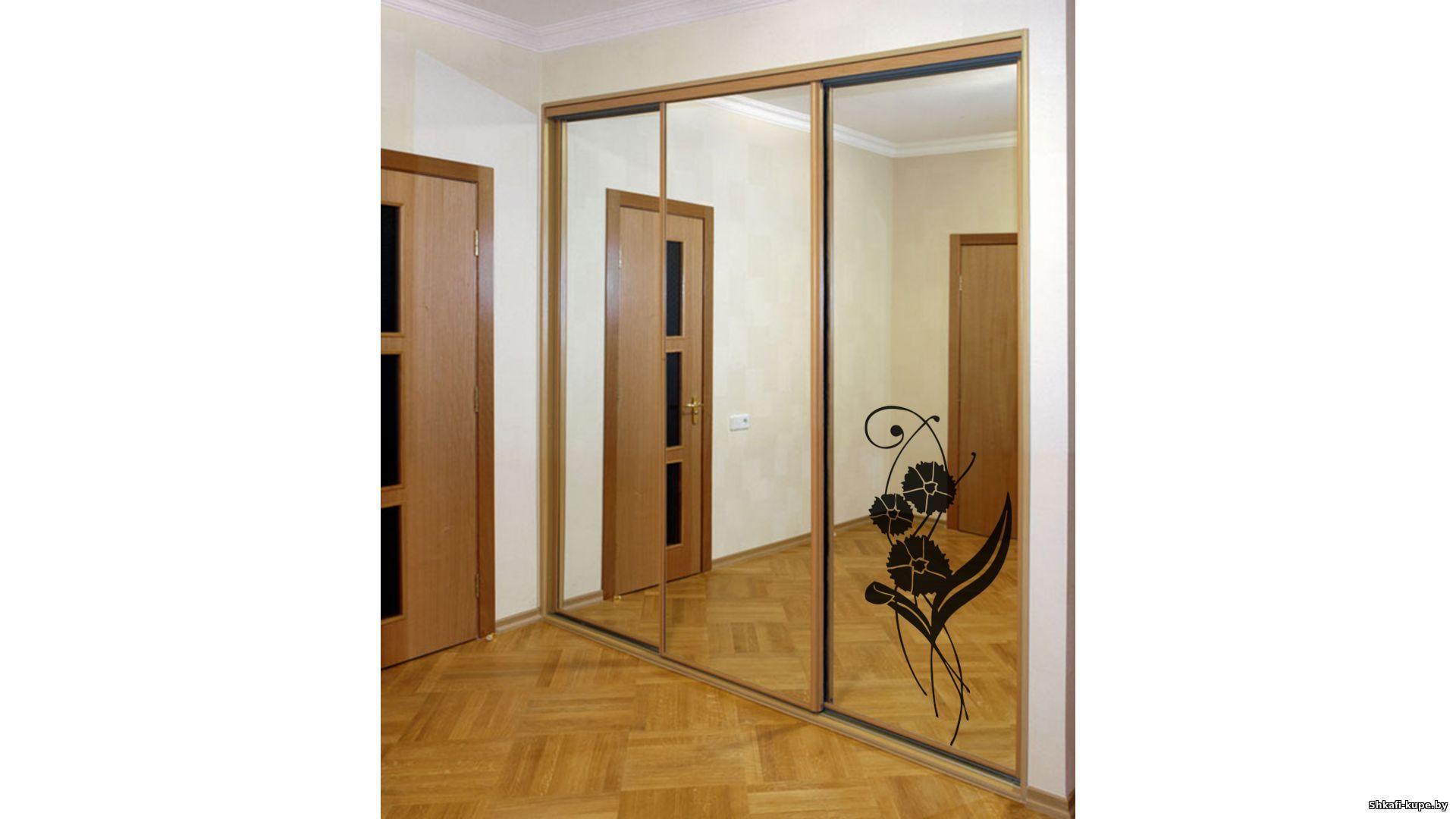 Зеркальные двери шкафа купе своими руками