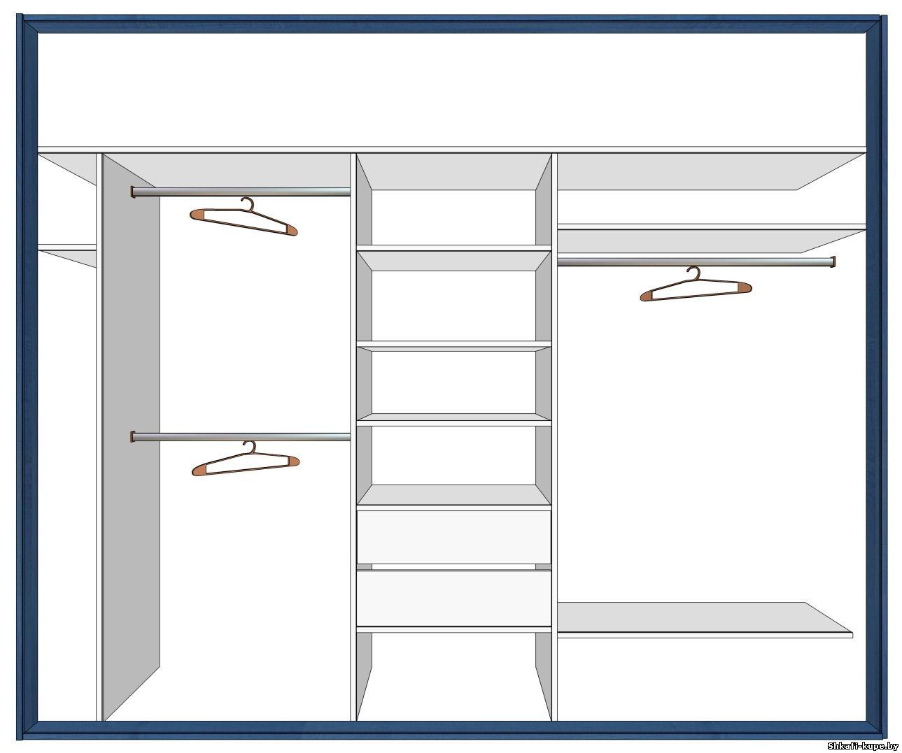 Встроенный шкаф-купе своими руками задача для мастера 64