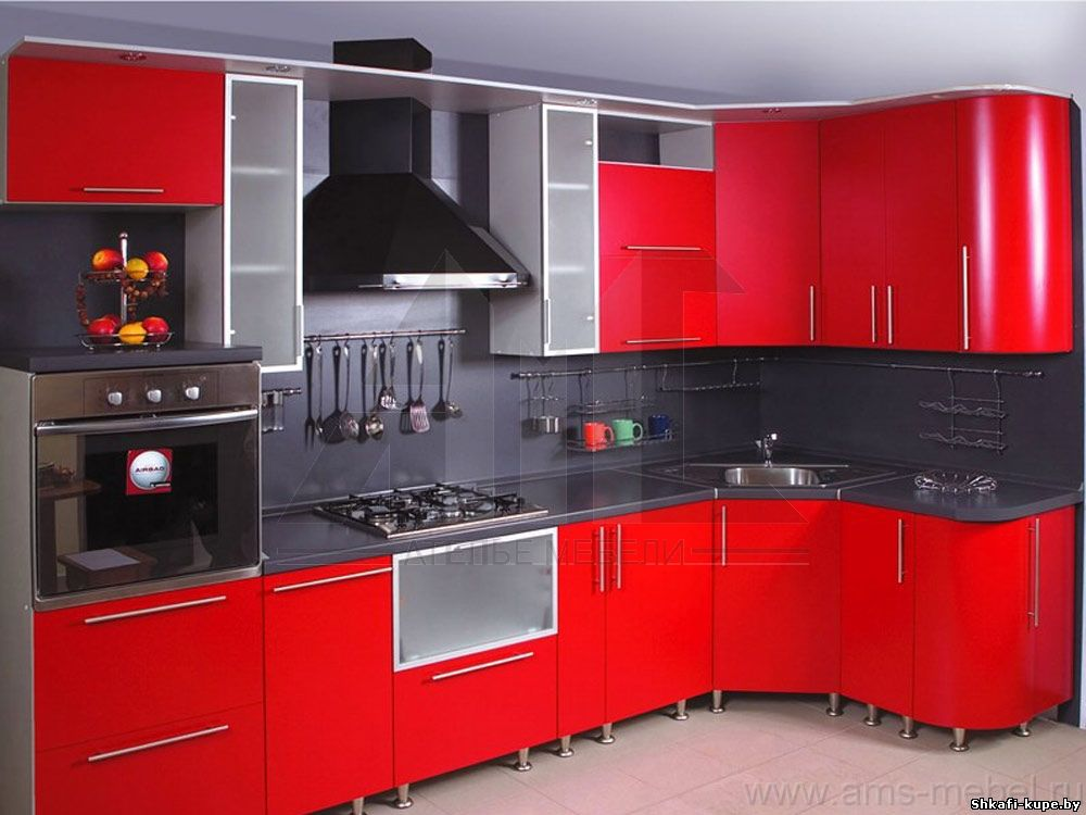 Красная кухня edem-style.ru.